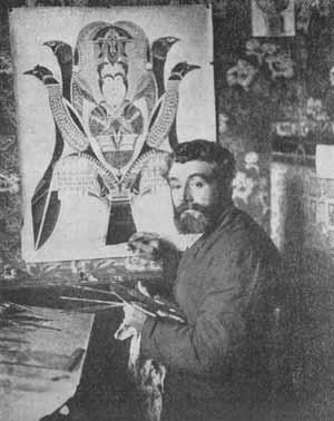 Osty estudió el caso del pintor espírita Agustín Lessage (1876-1954).