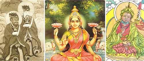 Iconografías chinas del aura de sabios confucianos, y otras expresiones en Nepal e India.