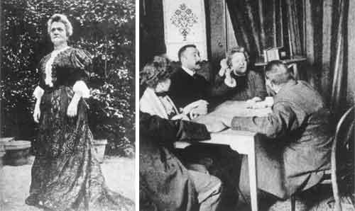 Eusapia Palladino (1854-1918) fue una importante catalizadora para la investigación de los fenómenos médiumnicos. Varios científicos y expertos quedaron impresionados con ella.