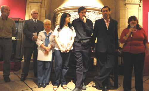 Inauguración. De izq. a der.: Juan Gimeno, Alberto Close, Nilda Brunetti, Fabiana Savall, Juan Corbetta, Alejandro Parra, y María Inés Rodríguez.