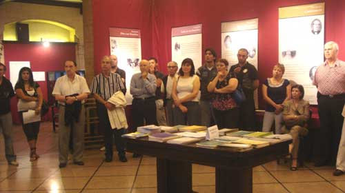 Acto de clausura de la exhibición (Diciembre 5, 2010).