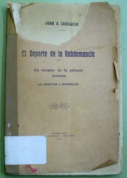 Portada del primer libro sobre radiestesia publicado en Argentina, en 1924, escrito por Juan A. Senillosa.