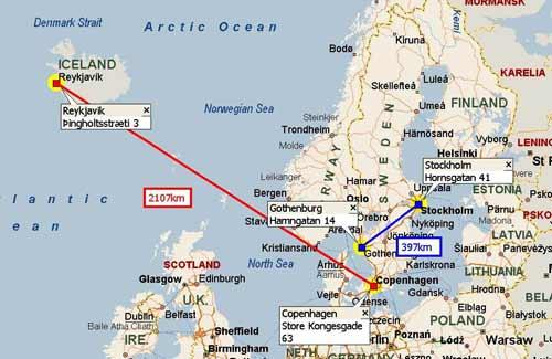 Hay sorprendentes similitudes entre ambos casos, los cuales ocurrieron mucho antes que existiera la comunicación por radio o por teléfono entre Reykjavik y Copenhague, o entre Gotemburgo y Estocolmo. Las distancias impiden cualquier explicación racional, desde Copenhague a más de 1.300 kms. de distancia y desde Estocolmo, a 245 kms.