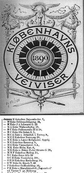Haraldsson revisó los padrones electorales de Copenhague tras la búsqueda de Emil Jensen, y encontró a un Jensen fabricante. En el censo de 1885, este Jensen vivió en la calle Kongensgade 68, cerca del número 63, donde comenzó el incendio.