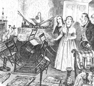 Angélique Cottin despertó el interés popular por sus fenómenos de tipo poltergeists. Angélique también afectaba objetos no metálicos, como sillas de madera que salían disparadas violentamente.