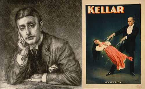 El mago Harry Kellar quedó impresionado por la levitación del médium William Eglinton: Llegué a la sesión como un escéptico, más debo reconocer que, a causa del fenómeno del que fui testigo, me encontré con algo imposible de explicar en forma normal.