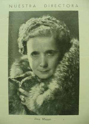 Irma Maggi (1937) en la revista Diógenes (p. 1)