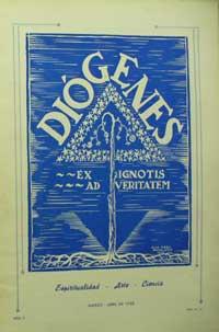 Portada de la revista Diógenes de marzo-abril de 1938.