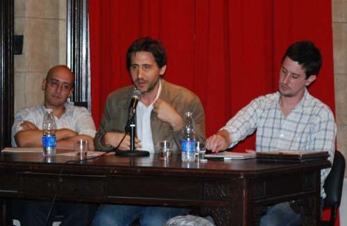 De izq. a der. Maximiliano Korstanje, Miguel Fabrissin y Miguel Algranti