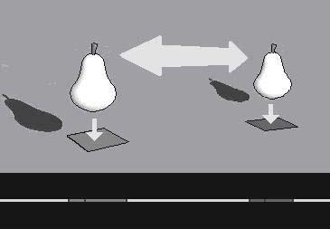 Figura 4: Un esquema de relaciones entre entidades de 2 y 3 dimensiones, como analog�a dimensional simple de las posibles relaciones entre entidades de 3 y 4 dimensiones.