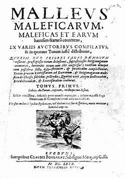 El Malleus Maleficarum era un libro sobre la caza de brujas, que luego de ser publicado en Alemania en 1486, tuvo docenas de ediciones, y un profundo impacto en los juicios contra las brujas por cerca de 200 a�os.