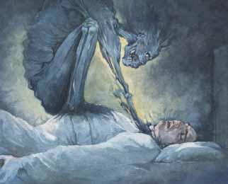 Old Hag es un palabra anglosajona que designa a una mujer mitol�gica, caracterizada como una fea anciana, que durante las noches ataca a las v�ctimas mientras duermen, salt�ndoles encima, oprimi�ndolas, quit�ndoles la respiraci�n.
