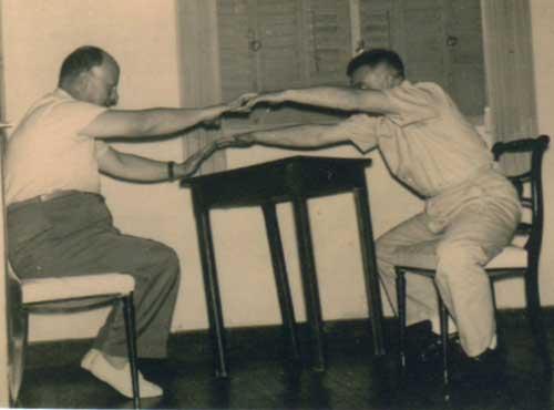 A la izquierda, Fernando del Mármol, y a la derecha, José María Feola.