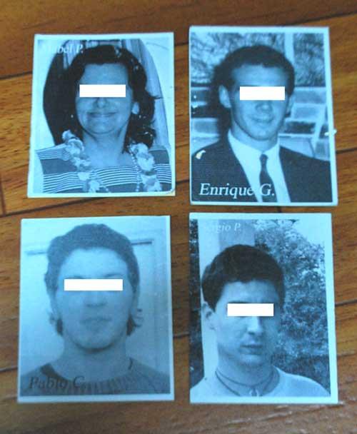 Antes de cada sesión, se entregaron dos fotografías apareadas dentro un sobre. Para evitar el contacto directo con las fotos originales, uno de los co-experimentadores escaneó las fotografías y las imprimió en blanco y negro. Además, codificó los pares de fotografías de personas vivas/muertas y suicidio/no suicidio.