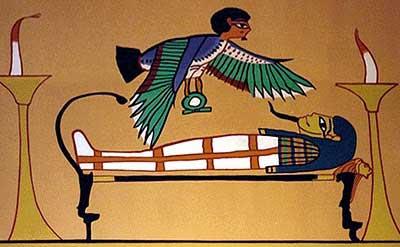 El Ka o Ba, que también se usa para referirse al asi llamado cuerpo astral, es un compañero desde el nacimiento y para toda la vida, que luego continua después de la muerte. Aún no esta claro si ese compañero es bueno o malo, pero custodia nuestro cuerpo mortal aun después de la muerte, como está escrito en numerosas tumbas.
