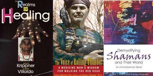 Tres de las principales obras de Stanley Krippner que revelan su profunda investigación sobre los orígenes, practicas culturales y rituales de los chamanes en América.