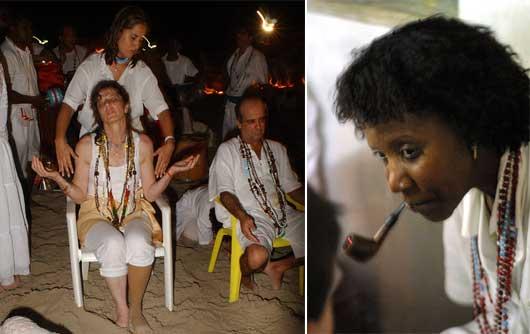El culto umbanda focaliza la práctica de la mediumnidad, especialmente aspectos psicológicos (cognitivos y afectivos) que podrían estar presentes en los médiums y relacionarlos con factores de naturaleza socio-cultural.
