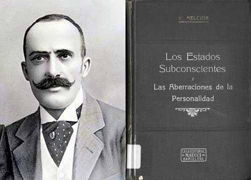 Víctor Melcior i Farré (1860-1929), médico, cirujano y activo seguidor y divulgador del movimiento espiritista catalán. Participó en el Congreso Internacional Espiritista de Paris, donde presentó su libro El Periespiritu y las enfermedades.