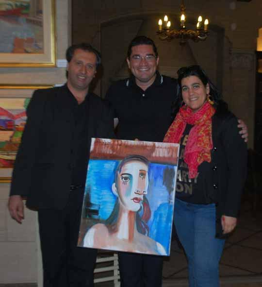 De izq. a der. Alejandro Parra, Florencio Anton y Romina Mielgo, al cierre de la Séptima Mesa Redonda Magistral.