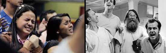 La investigación en psicóticos, religiosos y normales relacionados con la psicosis y la esquizotipia se ha llevado a cabo principalmente con referencia a las creencias delirantes. En comparación con controles normales, los individuos psicóticos perciben alucinaciones más negativas porque la típica alucinación auditiva psicótica implica voces malévolas, sin embargo, las personas religiosas experimentan alucinaciones más positivas porque la experiencia religiosa típica de una alucinación auditiva se interpreta en términos benignos.