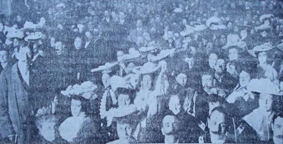 Concurrencia a la fiesta del Centenario de Allan Kardec. [Fuente: <I>Constancia</I>, A&ntilde;o XXVII Nº 901, 2 de octubre de 1904].