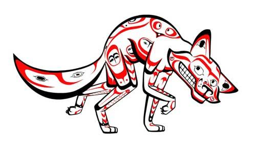 El coyote es uno de los avatares clave del tramposo en la tradición nativa americana de Norteamérica. Muchas veces, involuntariamente, hace travesuras y se mete en problemas. Al tener una afinidad por quitarle las partes del cuerpo y hacer cosas con ello que no se supone que haga, el coyote es un personaje de carne y hueso que invierte los binarios –de hecho, su propio cuerpo– mientras que suele reírse todo el tiempo.