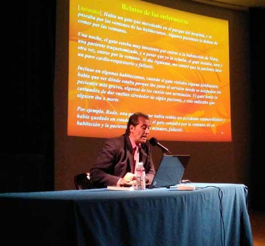 Disertación en Casa de Cantabria organizado por la Sociedad Española de Parapsicología de Madrid.