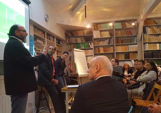Presentación de François Neddam en el Institute Metapsychique International de Paris.