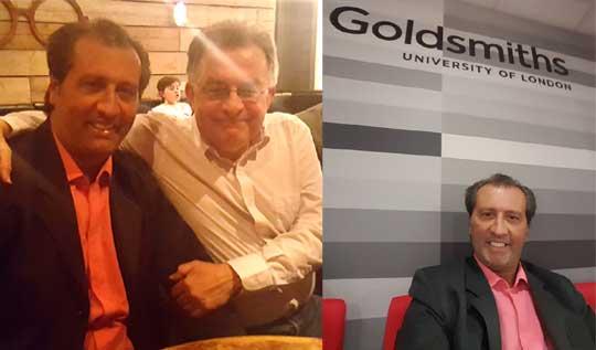 En el Goldsmith College de la Universidad de Londres junto al Profesor Chris French.