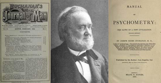 El término psicometría comenzó a emplearse después de la publicación del libro de J.R. Buchanan Manual of Psychometry de 1893. Buchanan esperaba que la psicometría sea la apertura a nuevos conocimientos en medicina, antropología, investigación literaria, arqueología y otros métodos para explorar el pasado.
