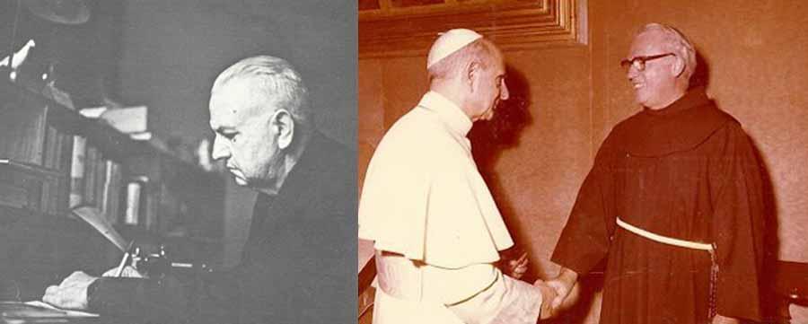 """El sacerdote Edvino Friderichs y Frei Boaventura Kloppenburg, un obispo católico de origen alemán, ambos radicados en Brasil, se empeñaron en el esclarecimiento de las """"verdades cristianas"""" y combatir las """"confusiones religiosas."""""""