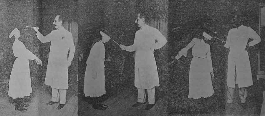"""Ovidio Rebaudi en su laboratorio pone a prueba diferentes técnicas de """"fluidización magnética"""" a una jóven paciente."""