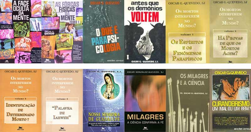 La prolífica obra de Oscar González Quevedo en portugués. Casi toda su obra está en español (excepto los últimos cinco libros en la lista). <I>El Rostro Oculto de la Mente</I> tiene además una versión en italiano (Astrolabio, 1981).
