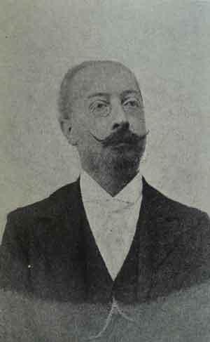 """El quimico Ovidio Rebaudi Balestra (1860-1931). El espiritista Morera sostenía que Rebaudi se enfadaba cada vez que se lo sindicaba como """"espiritista"""", ya que, a pesar de poseer dotes medianímicas, magnetológicas y curativas, ese término había sido adoptado por los """"cristianos"""" para diferenciarse de los espiritistas """"experimentales"""", como él."""