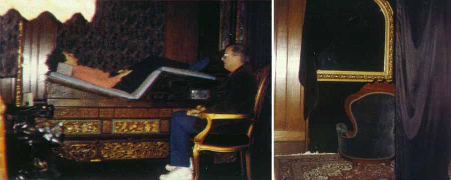 La sesión de psicomanteum en 1989, originalmente diseñada por Moody en su casa en Alabama, Estados Unidos, cuando comenzó sus primeras sesiones con participantes dispuestos a superar el duelo por la muerte de un ser querido fallecido.