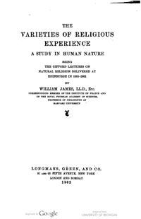 """James mencionó el concepto de la mente subliminal de Myers en su obra The Varieties of Religious Experience (1902): """"Creo que todavía faltan hechos para demostrar el 'retorno de los espíritus', aunque tengo el mayor respeto por el paciente trabajo de los Sres. Myers, Hodgson y Hyslop, estoy algo impresionado por sus conclusiones favorables."""""""
