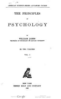 En su obra The Principles of Psychology (1890), James presenta ideas interesantes sobre la psicología de la mediumnidad y menciona a la telepatía en relación a la insularidad de la conciencia, en la mente de cada persona.