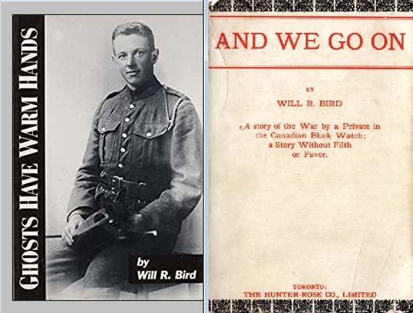 """Durante la Primera Guerra Mundial, Will Bird, un escritor canadiense y autor de <I>Ghosts Have Warm Hands</I>, describió múltiples """"experiencias de encuentro"""" con Steve, su hermano fallecido. Una noche, su hermano apareció y le hizo huir de su refugio. Por la mañana, se enteró que aquel refugio donde había estado durmiendo, había sido alcanzado por un proyectil."""