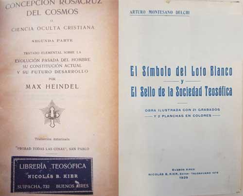 """Entre 1920 a 1925, Kier adicionó nuevos rubros a su librería hasta que en 1926 y lanza una modesta editorial bajo la denominación """"Nicolás B. Kier Editor"""" Entre 1929 y 1940, Kier publicó varios títulos con sello propio, por ejemplo, El Símbolo del Loto Blanco del médico naturista Arturo Montesano Delchi en 1929."""