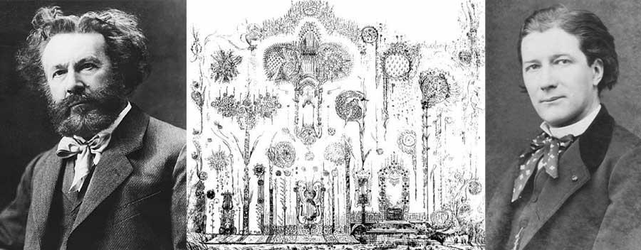 """En Francia, el astrónomo e investigador psíquico Camille Flammarion (1842-1925) sugirió que los famosos dibujos de casas en Júpiter del dramaturgo francés Victorien Sardou (1831-1908) eran el """"reflejo de ideas generales en el aire"""". Sardou decía comunicarse con Bernard Palissy y Wolfgang Amadeus Mozart, basadas en la apariencia de los residentes en Júpiter, su lenguaje, y sus prácticas e ideas."""