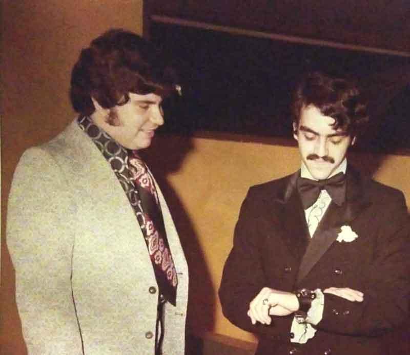 Alfonso Martinez Taboas y Carlos Alvarado en 1971.