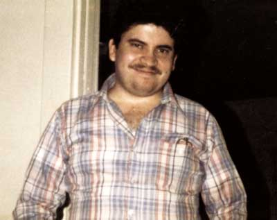 Carlos Alvarado cuando conoció a Nancy Zingrone (a los 28 años).
