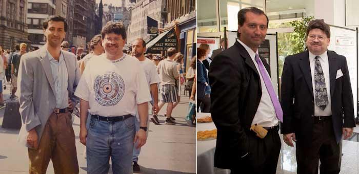 Dos momentos de encuentros con Alvarado, en 1995 (Durham, NC), en 1996 (Edinburgo) y en 2014 (Oporto).