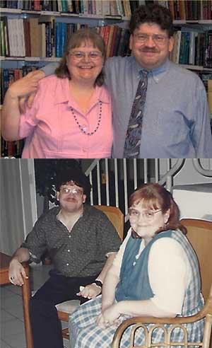 Carlos Alvarado y Nancy Zingrone.